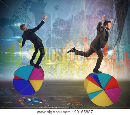 Finance and economy acrobats