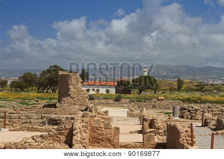 Cyprus Paphos. The Ruins Of The House Of Dionysus.