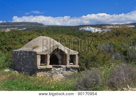 Old Traditional Greek Oven In The Island Of Cyprus. Horizontal