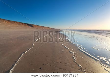 Sand Beach And North Sea Waves