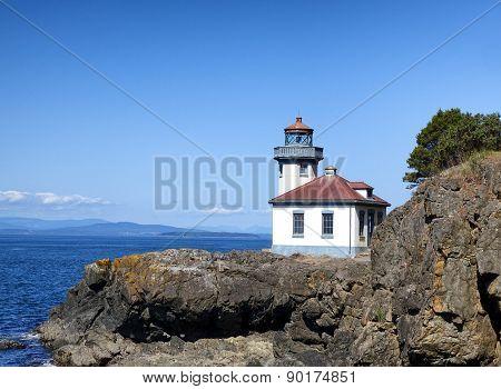 Lighthouse On Puget Sound Of Washington State