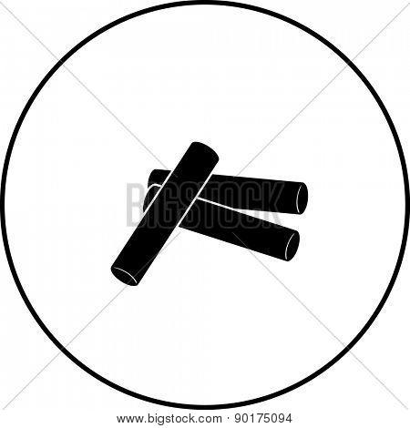 chalk sticks symbol