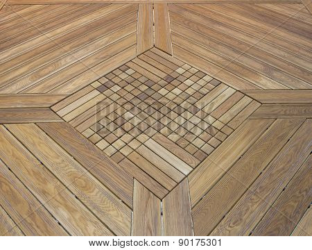 The Floor Of The Light Brown Diagonally