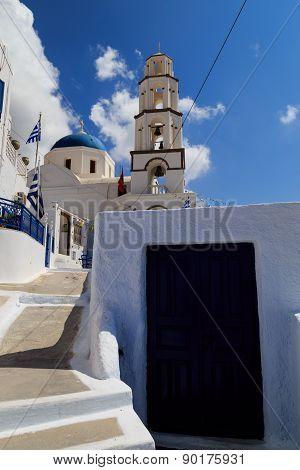 A church in Pyrgos village, Santorini.