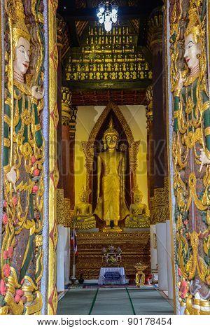 Buddha Image With Goddess Sculpture