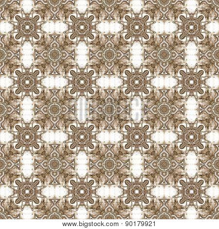 Seamless Kaleidoscope Texture Or Pattern In Brown 1