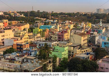 Bangalore city skyline - India