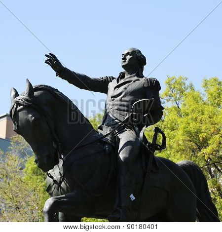 General George Washington Equestrian Statue at Union Square in Manhattan