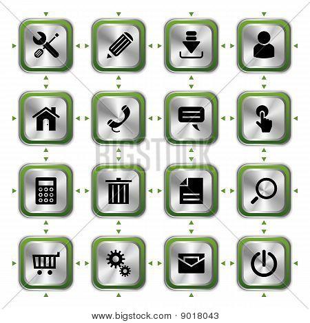 Sitio Web conjunto de iconos con estilo