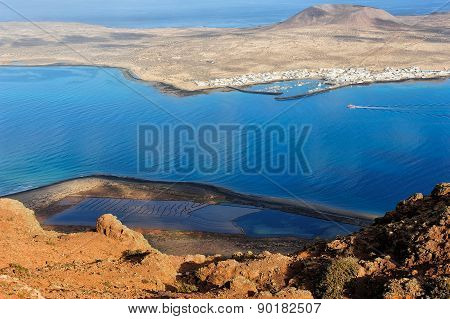 Caleta De Sebo Town On Graciosa Island, Canary Islands, Spain