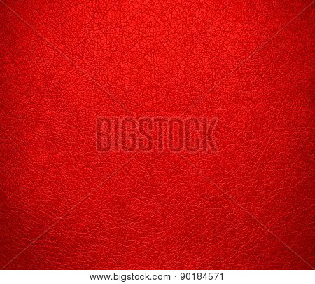 Candy apple red color leather texture background