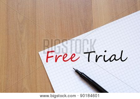 Free Trial Concept