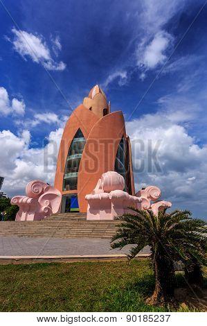 Tower Lotus In Nha Trang Vietnam. Vertical