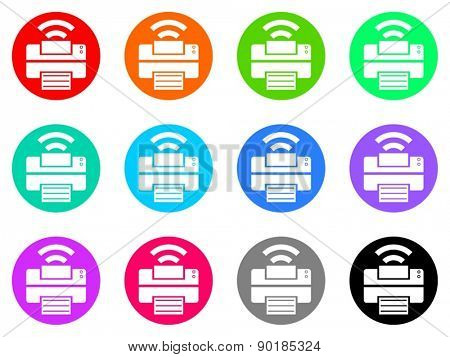 printer vector web icon set