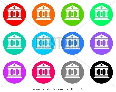 museum vector web icon set