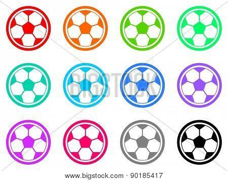 soccer vector web icon set