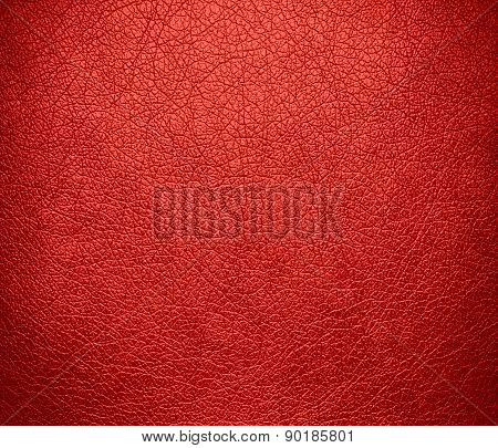 Carmine pink color leather texture background