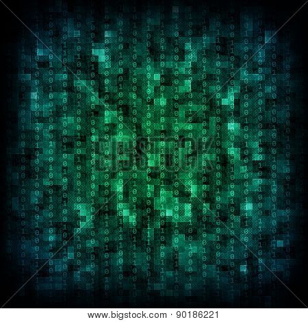 Clororful matrix background