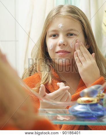 girl in the bathroom