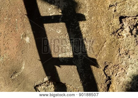 shadow of a ladder, Istanbul, Turkey
