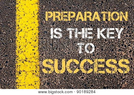 Preparation Is The Key To Success Motivational Quote.