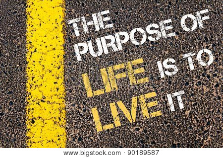 The Purpose Of Life Is To Live It Motivational Quote.
