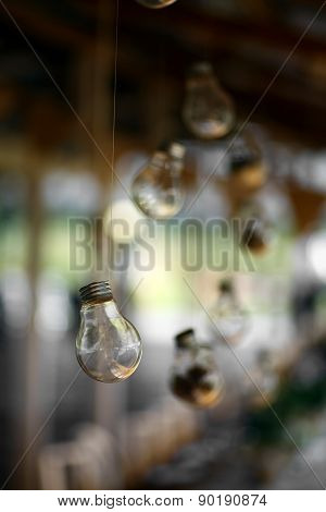Suspended Light Bulb