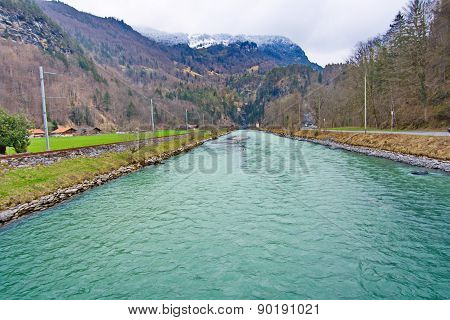 River Aera At The Entrance To Aare Gorge - Aareschlucht
