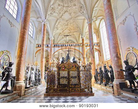 Hofkirche (court Church)  In Innsbruck, Austria