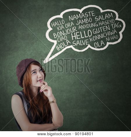 Teen Girl Say Different Language