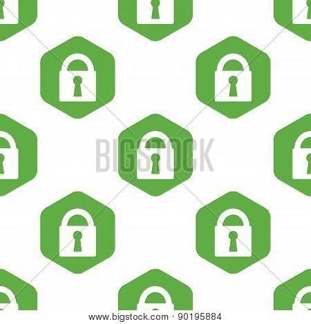 Closed padlock pattern