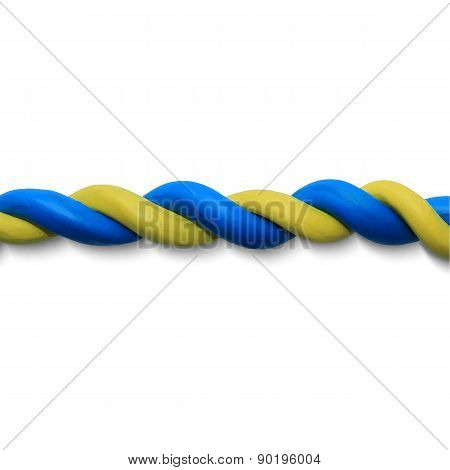Blue yellow rope