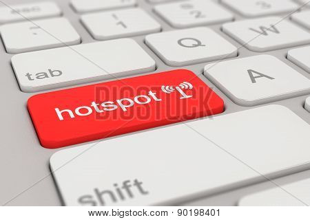 Keyboard - Hotspot - Red