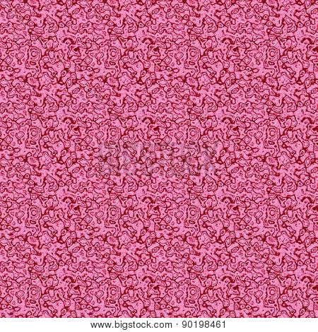 Seamless Pink Patern With Glass Texture