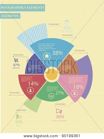 Business Infographics circle style