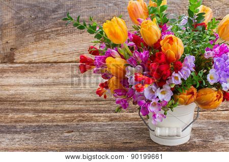 freesia and  flowers