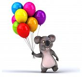 stock photo of koalas  - Fun koala - JPG