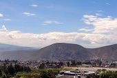 stock photo of northern hemisphere  - A small part of Quito seen from the air - JPG