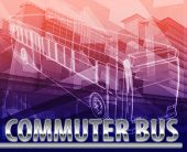 pic of commutator  - Abstract background digital collage concept illustration commuter bus public transport - JPG