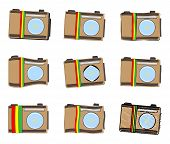 picture of ethiopia  - Vector icons set - JPG