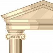 image of ionic  - Ionic realistic antique greek temple with columns - JPG