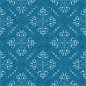 picture of scandinavian  - Floral pattern with abstract scandinavian geometric flowers  - JPG