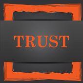 stock photo of trust  - Trust icon - JPG