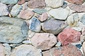pic of fortified wall  - Beautiful close up of old stone wall  - JPG