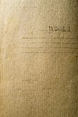 stock photo of manila paper  - Old paper surface with rich and various texture - JPG