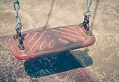 picture of playground  - Empty outdoor kid playground equipment at public playground - JPG
