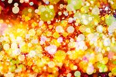 foto of golden  - Festive Background With Natural Bokeh And Bright Golden Lights - JPG