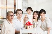 pic of family planning  - Family future investment or financial planning concept - JPG