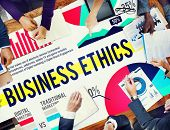 foto of moral  - Business Ethics Moral Policies Awareness Marketing Concept - JPG