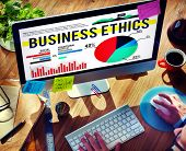 pic of morals  - Business Ethics Moral Policies Awareness Marketing Concept - JPG